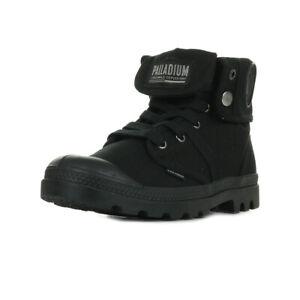 Chaussures Boots Palladium femme Pallabrousse Baggy taille Noir Noire Textile