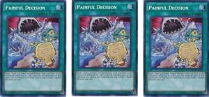 PAINFUL DECISION Yugioh Secret Rare 1st Ed MP16-EN151