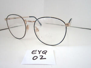 5bce1b678eac Vintage 1980s Sun Eyeglasses Frame  Cindy Blue Gold EYE-Q (EYQ-02 ...