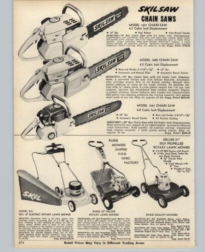 1970 PAPER AD Skilsaw Skil Saw Chain Saw 1631 1645 1661 Gas Gasoline