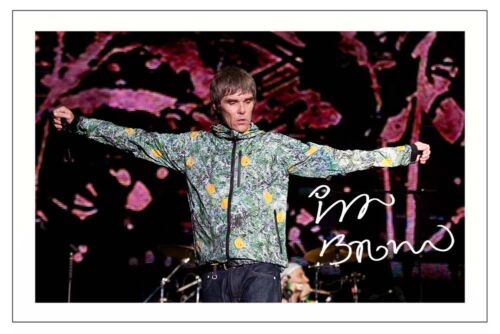 IAN BROWN SIGNED PHOTO PRINT AUTOGRAPH THE STONE ROSES