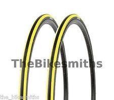 2 PAK Kenda Kadence YELLOW & BLACK Road Bike Tires 700 x 23C 1 Pair Bicycle 260g
