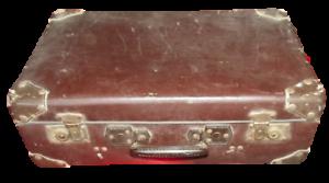 Ancienne-Grande-Valise-Malle-Voyage-Coffre-Film-Traversee-de-Paris-Train-Vintage