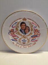 PRINCE CHARLES & PRINCESS DIANA Commemorative Plate of Prince William Birth 1982