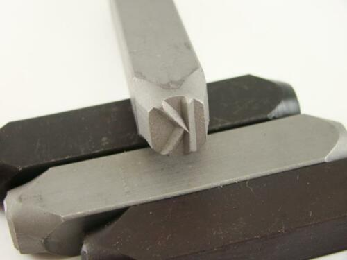 "Gold Bar-Argent-remorque-Métal Cuir 1//2/"" LETTRE /""K/"" Stamp-Punch-Hand-Tool"