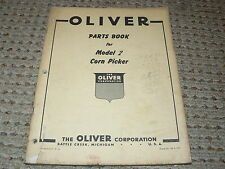 Oliver White Tractor Model 2 Corn Picker Dealers Parts Book