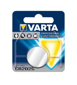 5UDS-Varta-Bateria-pila-de-boton-Litio-CR2025-3v-profesional-electronica-NUEVO