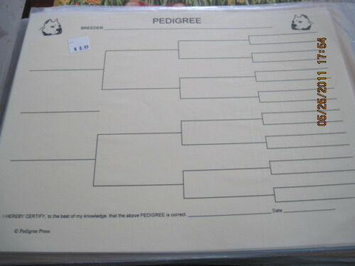 Argentino Dogo Blank Pedigree Sheets Pack 10