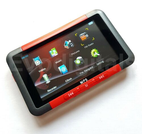 """MORE DIRECT PLAY 3/"""" SCREEN VIDEO MUSIC NEW EVO RED 16GB MP3 MP5 MP4 PLAYER"""