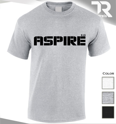 GYM DEDICATED T SHIRT ASPIRE TOP BODYBUILDING TEE TRAINING MMA UFC TOP FIGHTER