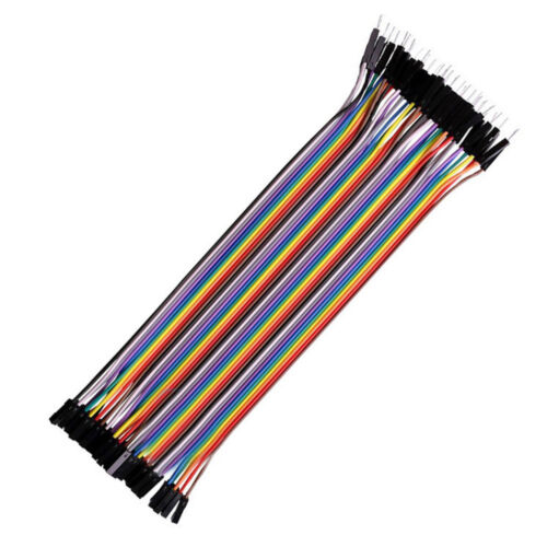 40X Breadboard Dupont Jump Wire M-M//M-F//F-F 10//20//30cm Cable 2.54mm For Arduino