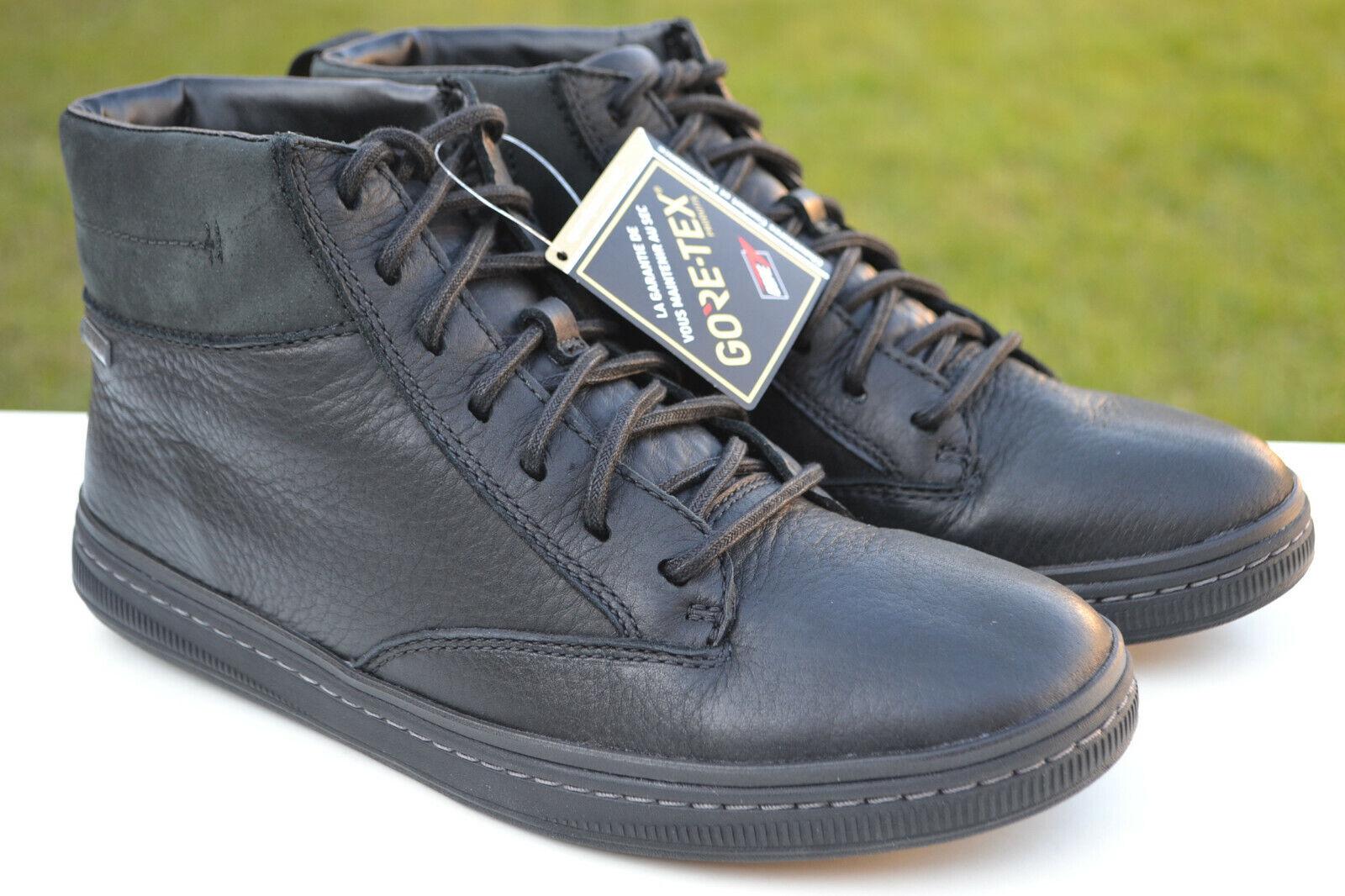 Clarks BNIB Mens Boots NORSEN MID GTX Black Leather UK 10 / 44.5
