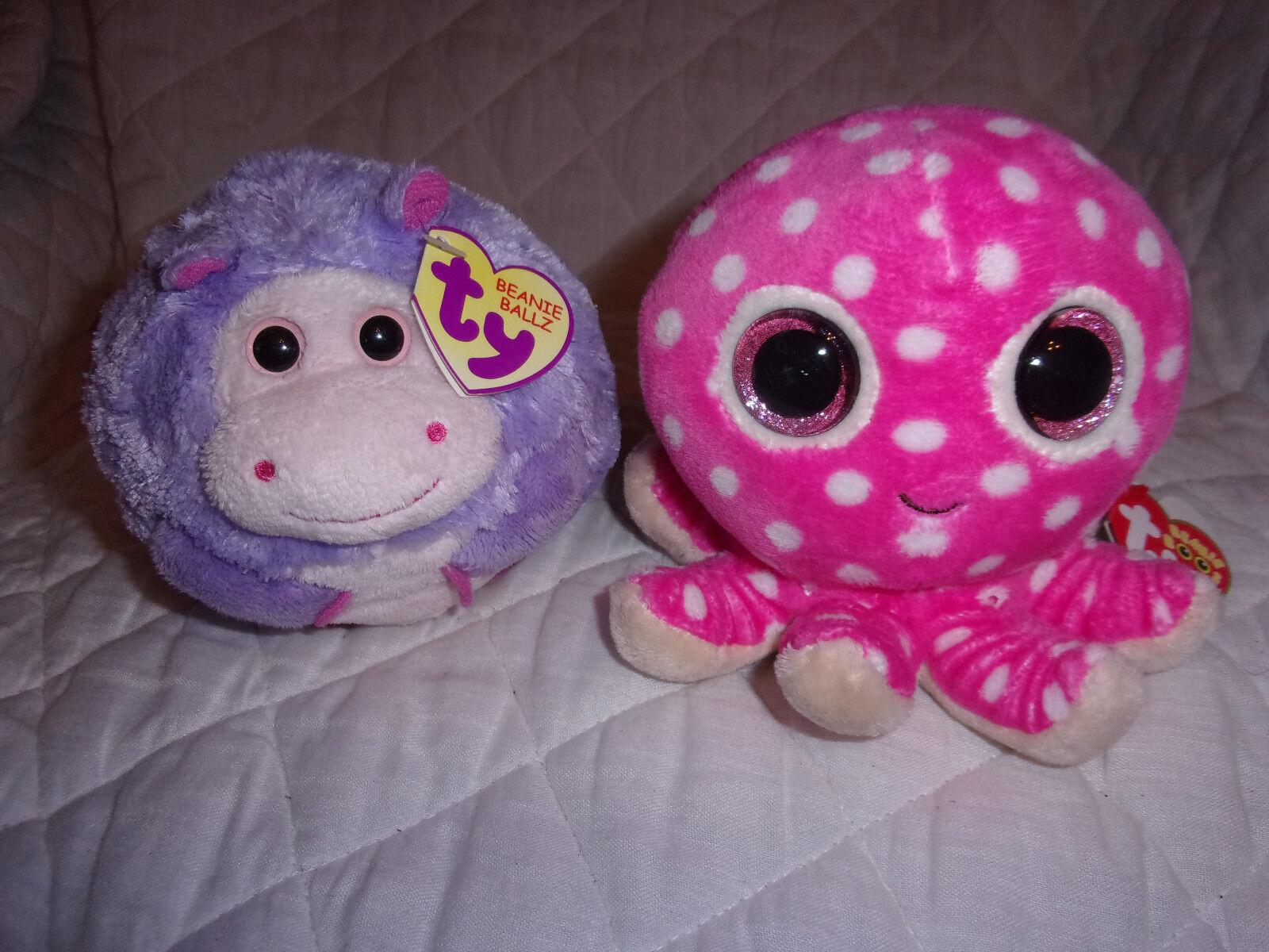 Ty Beanie Boos Ollie Octopus Ballz DEWDROP Hippo Plush Soft Toy Stuffed Animal