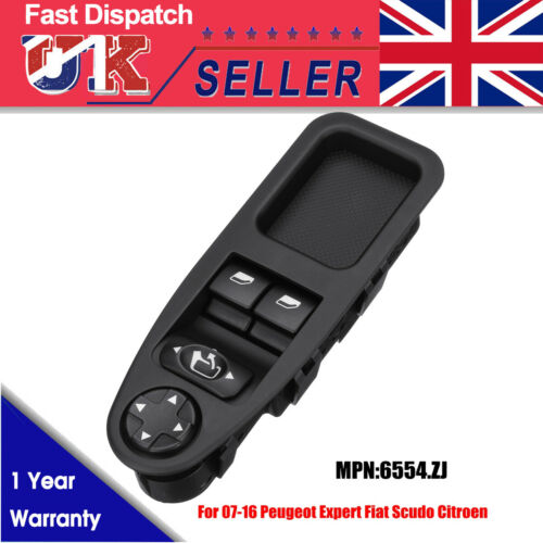 Front LHD Electric Power Window Switch For Peugeot Expert Fiat Scudo Citroen