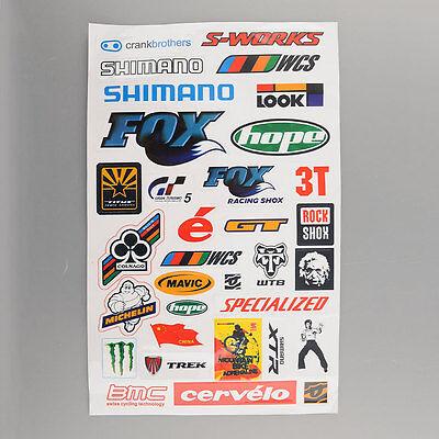BMX MTB Bike Cycling Bicycle Scrapbook Decal Cool Sheet Stickers Sticker HOT