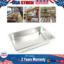 6x Full Size 24 Deep 8513l Stainless Anti Clog Steam Tablehotel Buffet Pans
