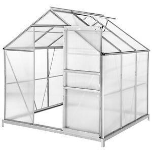 Serra da giardino in alluminio policarbonato piante orto for Serre da giardino policarbonato