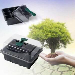 Nursery-Pot-Planting-Seed-Tray-Kit-Propagator-Plant-Germination-Box-12-Cells