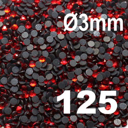 500 Strass thermocollant RHINESTONE hotfix Ø 3 mm ss10 ORANGE N° 131