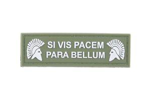 Airsoft-morale-patch-3D-PVC-l-hook-and-loop-SI-VIS-PACEM-PARA-BELLUM-green
