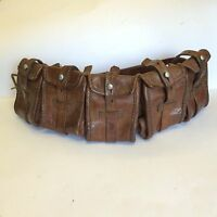 ww1 sam brown belt leather ammunition pouch