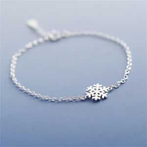 New-Fashion-Charm-Women-Girl-Snowflake-Shape-Bangle-Wrap-Chain-Bracelet-FG-LDUK