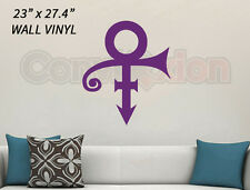 "Prince Symbol Wall Decal Removable Purple Rain Fans Vinyl Decor Room 23"" x 27.4"""
