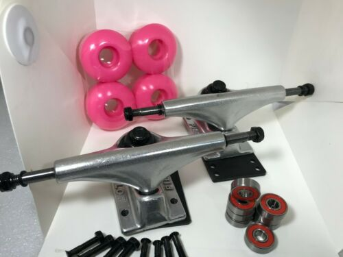 Plus Bearings Combo Set Wheels 5.0 Inch Metallic Purple//Black Trucks PILOT 7