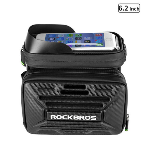 RockBros Bike Frame Bag Pannier Front Tube Bag Touchscreen Bike Phone Holder Bag