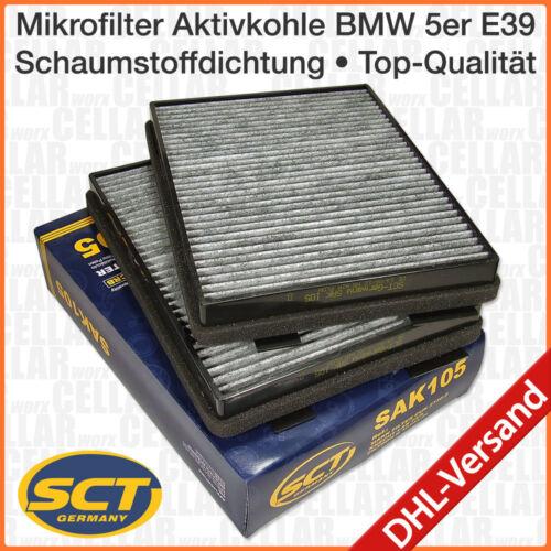 BMW 5er E39 2 Stück Innenraumfilter Pollenfilter Mikrofilter Aktivkohle