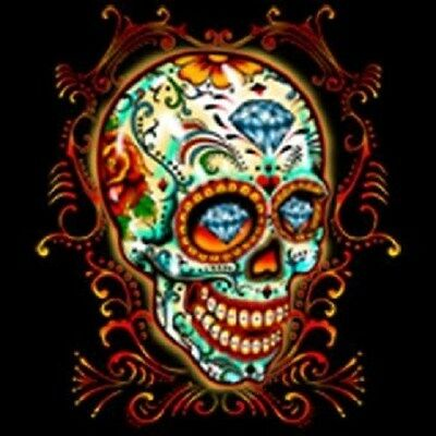 Sugar Skull Calavera T-Shirt Day of The Dead Dia de los Muertos Mens Tee Shirt
