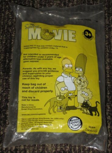 2007 The Simpsons Movie Burger King Kids Meal Toy Marge