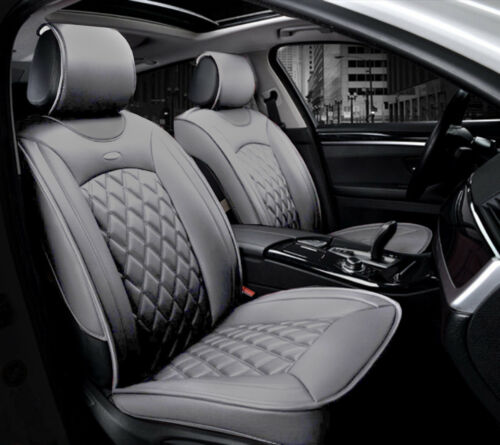 Deluxe Grey PU Leather Front Seat Covers Cushion For Skoda Octavia Superb
