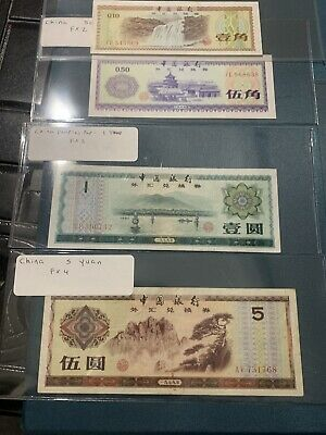 5RW 23ABRL CHINA 10 FEN 1979 P FX1 FOREIGN EXCHANGE CERTIFICATE XF CONDITION
