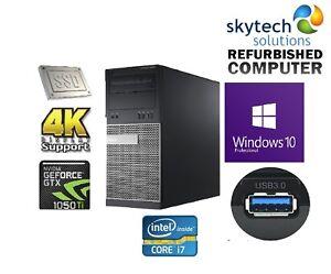 Fast-Gaming-Computer-i7-4770-16GB-RAM-120GB-SSD-500GB-HDD-Nvidia-1050Ti-4K-PC