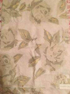 Rachel-Ashwell-Shabby-Chic-Fabric-Piece-LINEN-Floral-Remnant-Yardage-Sample