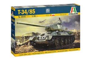 T-34/85 Zavod 183 Mod.1944 Chenilles en caoutchouc Italeri 6545 1/35 Model Kit Nouveau