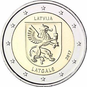 Lettland-2-Euro-Muenze-Latgale-2017-Historische-Regionen-Lettgallen-bankfrisch