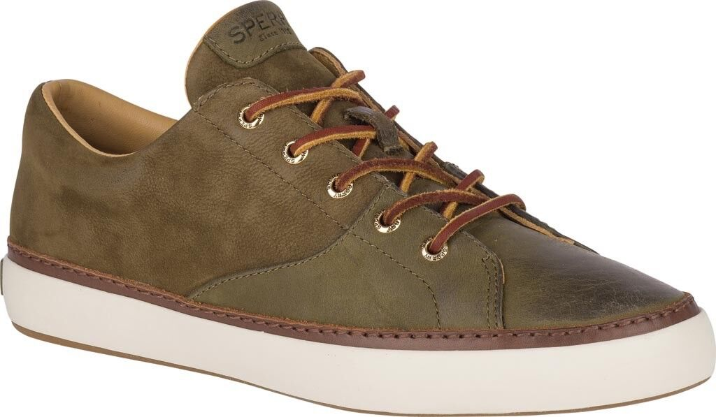 Sperry Top-Sider gold Cup Haven Sneaker (Men's) in Olive Leather - NEW