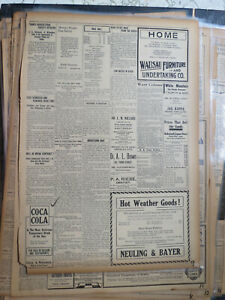 Coca Cola Newspaper Ad 1906 TEMPERANCE DRINK ON SALE IN SALOONS