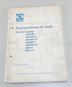 Werkstatthandbuch-Sachs-Motor-50-AMA-50-AMB-50-AMA-X-50-A-S-etc-Stand-9-1971