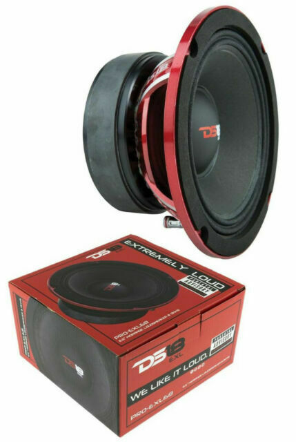 "DS18 PRO-EXL68-6.5/"" Midrange Loudspeaker 600 W Max Power 8 Ohm Competition"