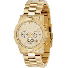 New Michael Kors Runway Gold Stainless Steel Chronograph MK5055 Women Watch