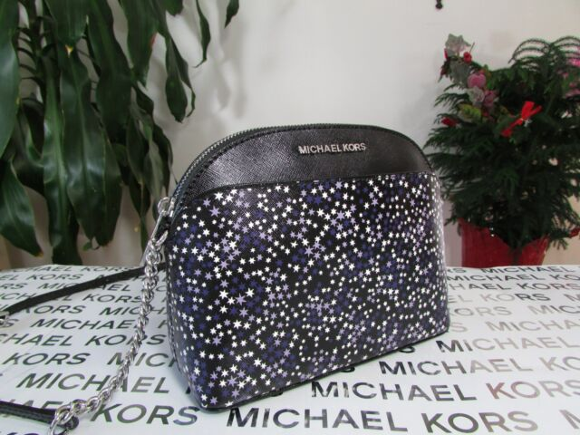 9eaf7d001c46dc Michael Kors Printed Stars Saffiano Leather Emmy Crossbody Bag in ...