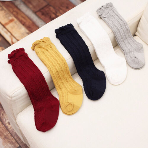 Newborn Toddlers knees high sock baby XBUrl//Boy Solid Long Socks-Accessories OQ