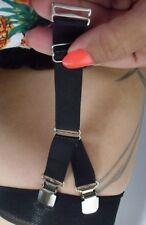 1 Porte Jarretelle à l'unité Y elastique noire 1 crochet 2 clips métal qualité
