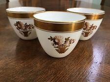 Vintage Royal Copenhagen Denmark GOLDEN BASKET THREE (3) Cups  Pattern #595
