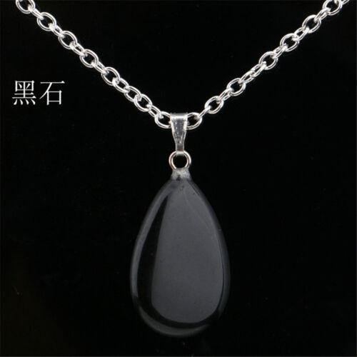 New Natural Crystal Quartz Stone Point Chakra Healing Gemstone Pendant Necklace