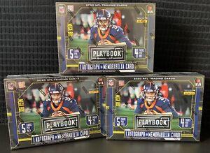 NEW & SEALED - 2020 Playbook NFL Football MEGA Box (Lot Of 3)
