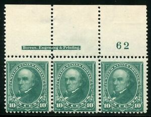 UNITED-STATES-SC-273-PLATE-STRIP-OF-3-MINT-NEVER-HINGED-TOP-PLATE-62-IMPRINT-1